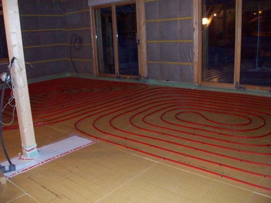 Le plancher chauffant