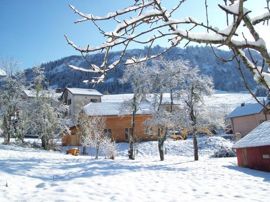 la maison dans son environement d'hiver